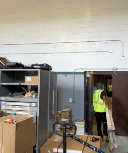 company storage room